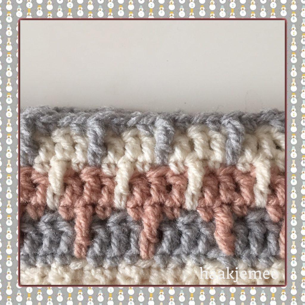 Three color beanie crochet pattern