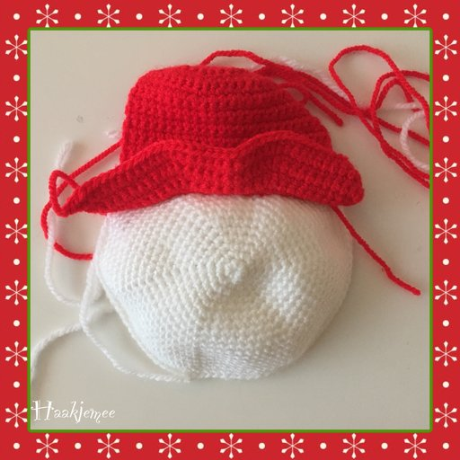 Christmas tree skirt crochet pattern snowman 2