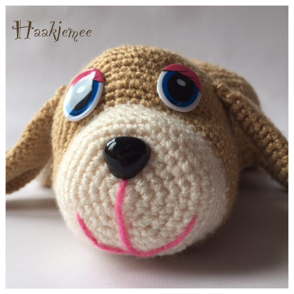 Flippable toy crochet pattern dog