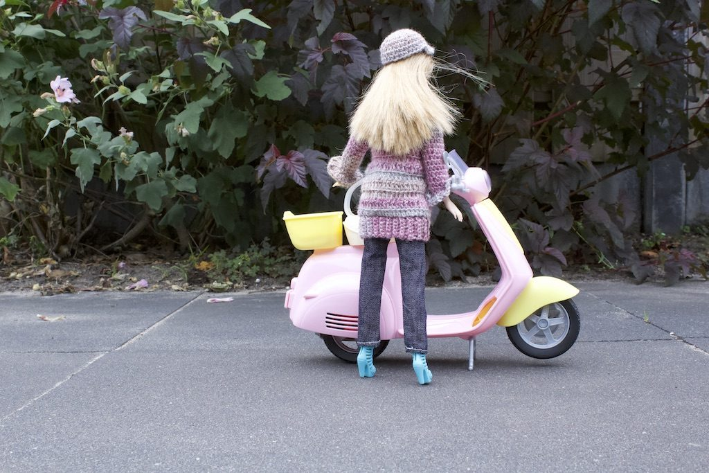 Barbie vest haakpatroon achterkant