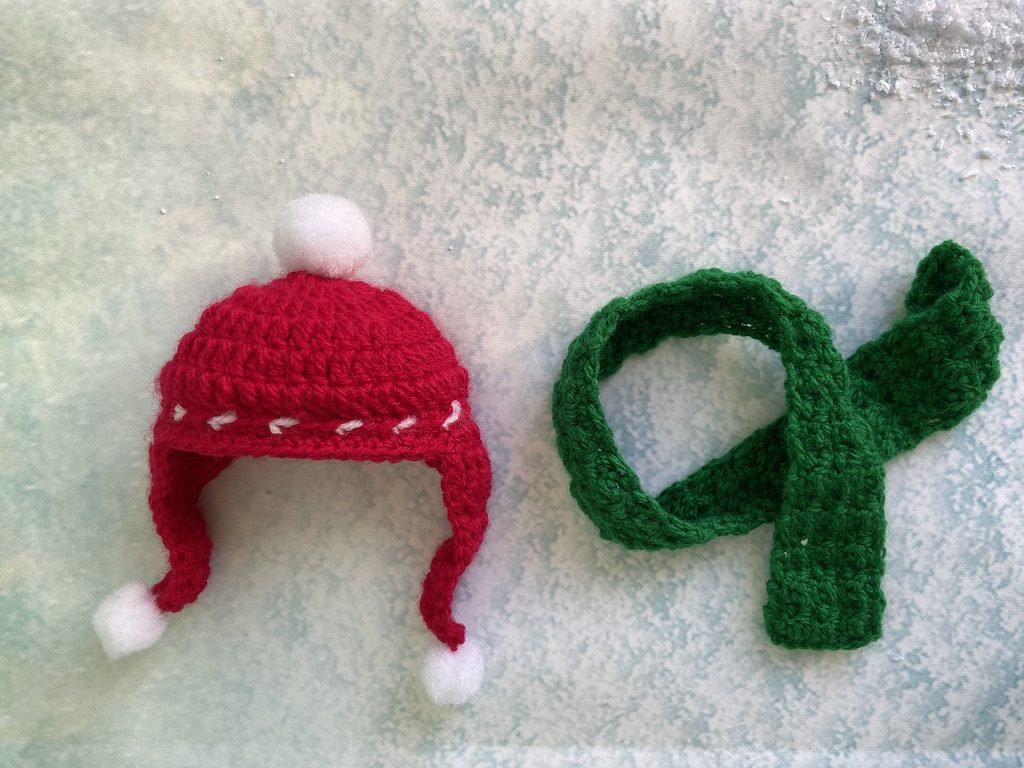 Christmas bear crochet pattern hat