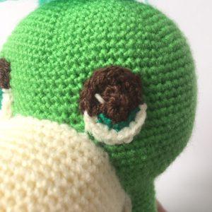 dax dinosaur crochet pattern eyes