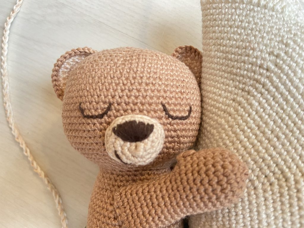 sweet dreams little bear haakpatroon ogen en neus
